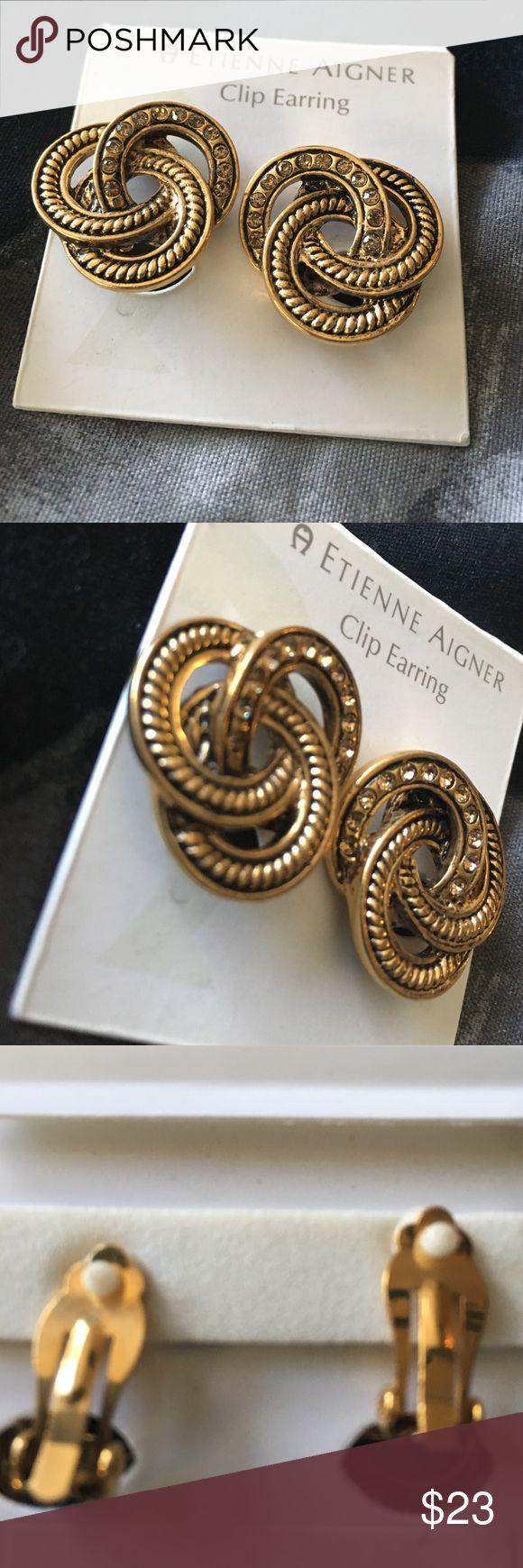 Etienne Aigner clip earrings (31) Brand-new never worn Etienne Aigner Jewelry Earrings
