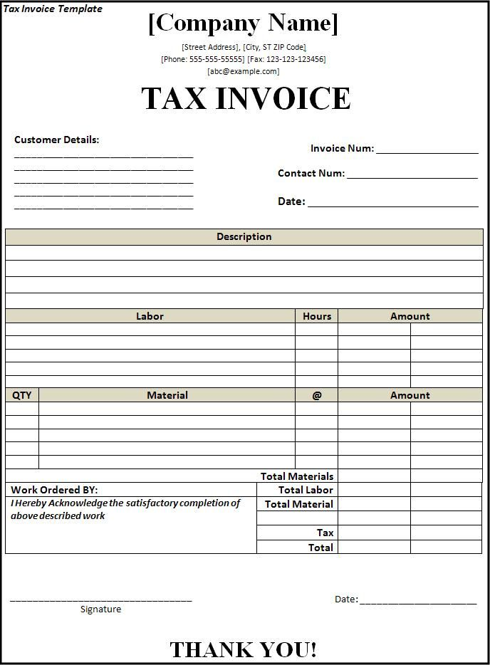 29 best office forms images on Pinterest Computers, Productivity - free download tax invoice format in excel