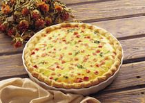 Ham Quiche.  What's better than saying it?  Eating it!