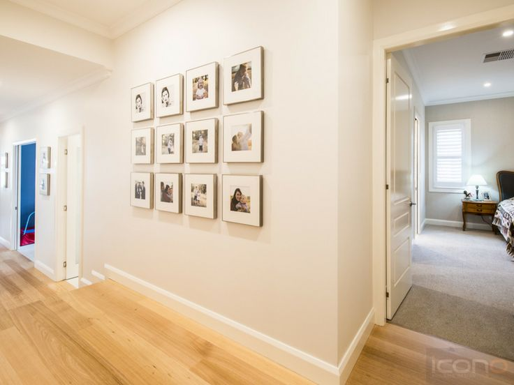 Lovely hallway to all of the bedrooms. #bedrooms #family #Australianhomes #hallway #iconobuildingdesign