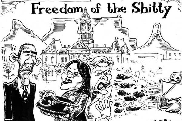 Zapiro: Obama's visit with Zille - Mail  Guardian