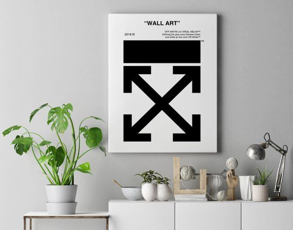 Off White 2018 Wall Art Classic Poster Styled Print High Quality Custom Designed Wall Art Inspired By Virgil Abloh Hypebeast Room Poster Wall Custom Wall Art