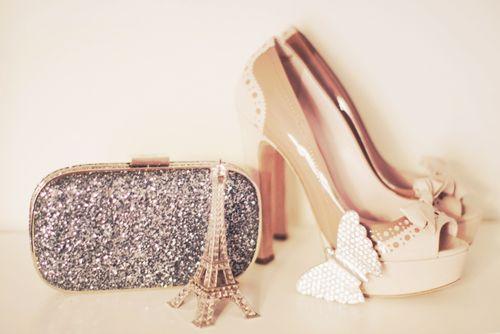 dreamy.Shoes, Cherries Blossoms, Paris Fashion, Cocktails Rings, Clutches, Parisians Style, High Heels, Miu Miu, Glitter