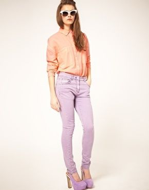 lilac and orange... loving the spring colour palette