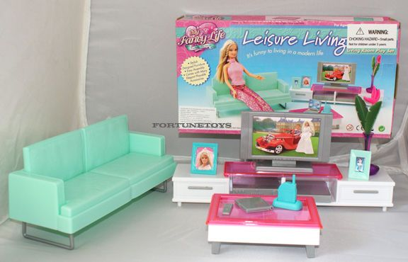 NEW FANCY LIFE DOLL HOUSE FURNITURE Leisure LIVING Room FOR BARBIE