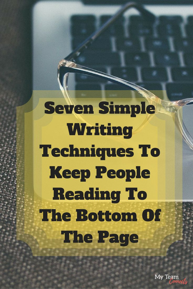 You never want your reader to drift away before they consume all your content on the page. So is there a trick to get them to stay to the end? This article breaks it down. http://myteamconnects.com/seven-simple-writing-techniques-keep-people-reading-bottom-page/?utm_campaign=coschedule&utm_source=pinterest&utm_medium=My%20Team%20Connects #copywriting #contentmarketing