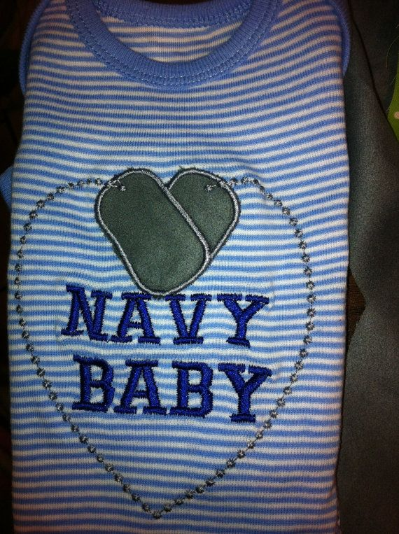 NAVY BABY US Military shirt for your baby or child. Army, Navy, Marines or Airforce Dog Tags on Etsy, $20.00