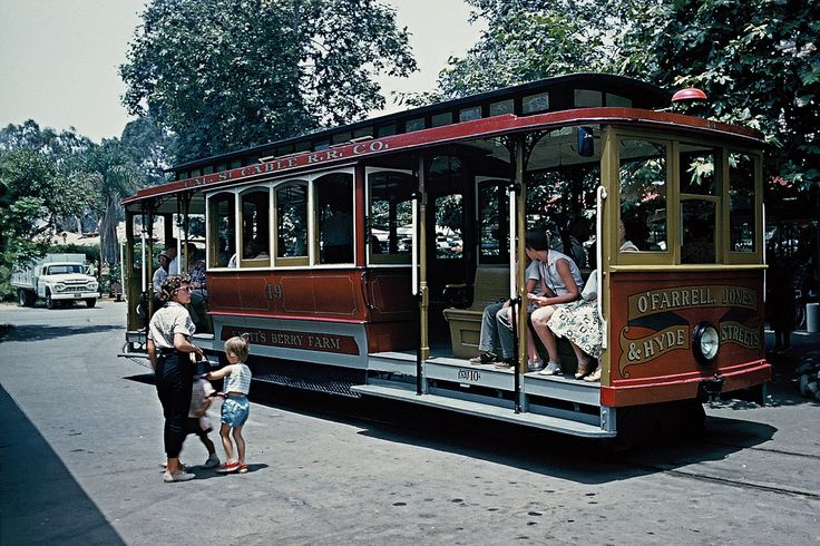 Trolley at Knott's Berry Farm, 1960. photograph by Walter Reed