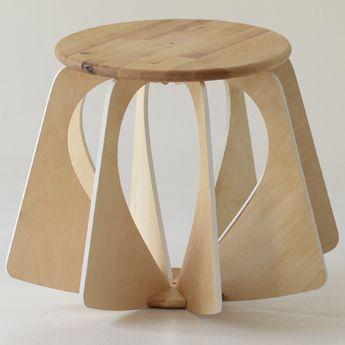 """NINA-Snowhite"" active stool with white edges, by melinda molnaar"