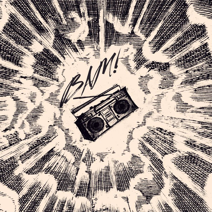 Respect the boombox! Radio, 80's, retro, vintage, art, music, comics.