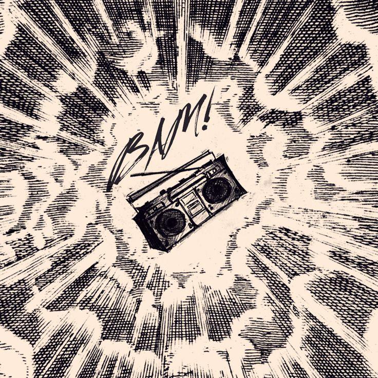 Respect the boombox! Radio, 80's, retro, vintage, art, music, comics.