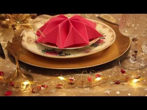 How to fold napkins - Three decorative ways - Star, leaf and crown - YouTube