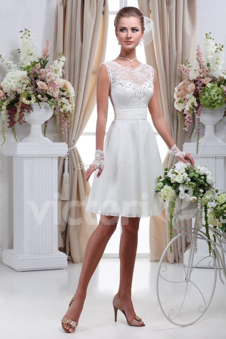 Barato Simples branco curto vestido de noiva vestido de noiva curto renda vestidos de casamento vestidos de noiva vestido de noiva curto C20, Compro Qualidade Vestidos de noiva diretamente de fornecedores da China:                       Por que escolher rainha nupcial?                                      1,100% feedback positi