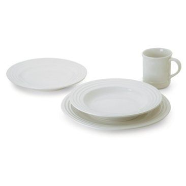 Check out this item at One Kings Lane! 4-Pc Dinnerware Set, White