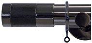 Jones Strand 35mm Curtain Pole Black Nickel, Wenge Wood Cylinder