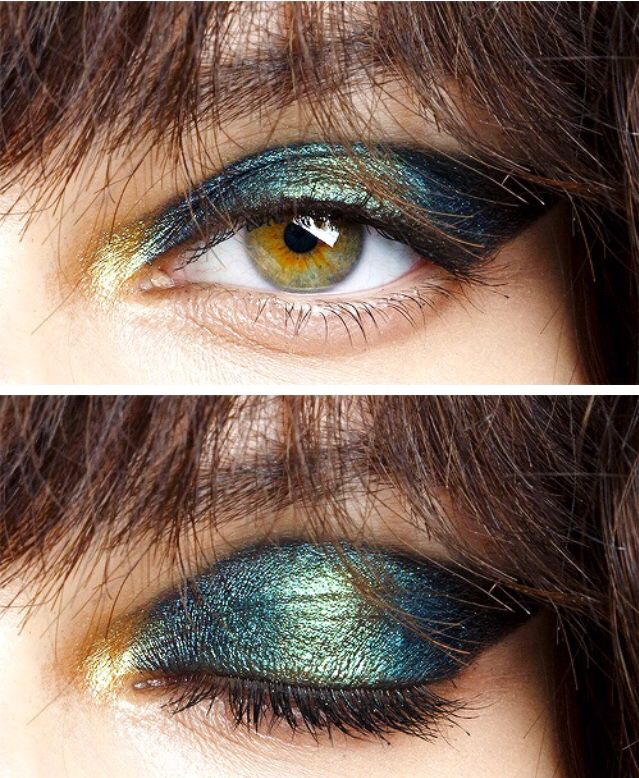 Iridescent eye makeup by Pat McGrath at John Galliano Spring/Summer 2015