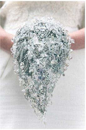 Crystal Bridal Accessories Brooch Bouquet