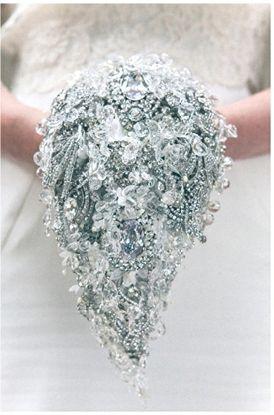 Crystal Bridal Accessories Brooch Bouquet