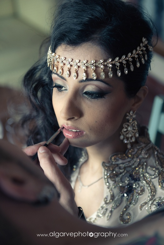 Asian Indian Bridal make-up South Asian Weddings Indian Wedding by Algarve Wedding Planners | My Portugal Wedding | Portugal Luxury Weddings - Algarve, Lisbon, Cascais, Sintra & Madeira - info@algarveweddingplanners.com | info@myportugalwedding.com