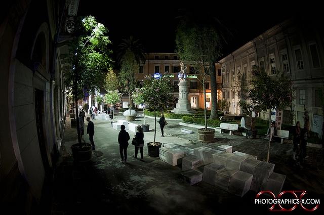 Una particolare veduta della Piazza Cesare Battisti