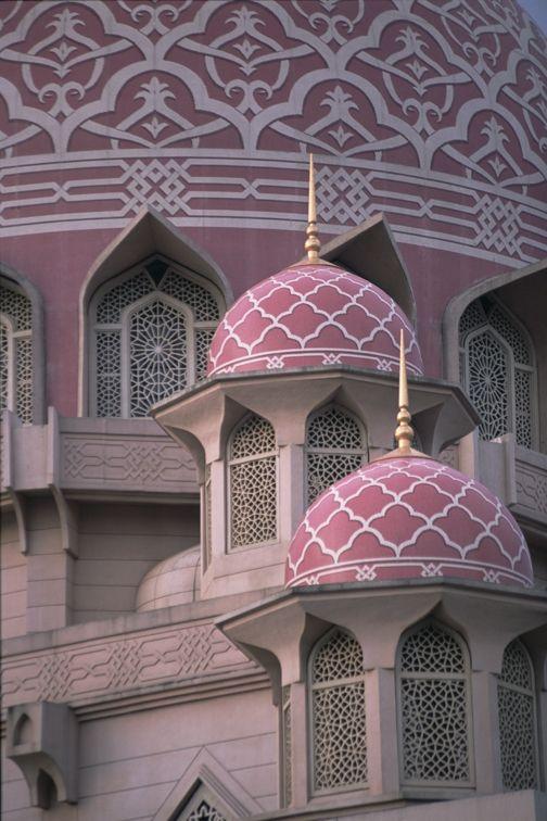 Pink Dome Mosque, Putrajaya Malaysia. ☮k☮ ♥ #bluedivagal, bluedivadesigns.wordpress.com