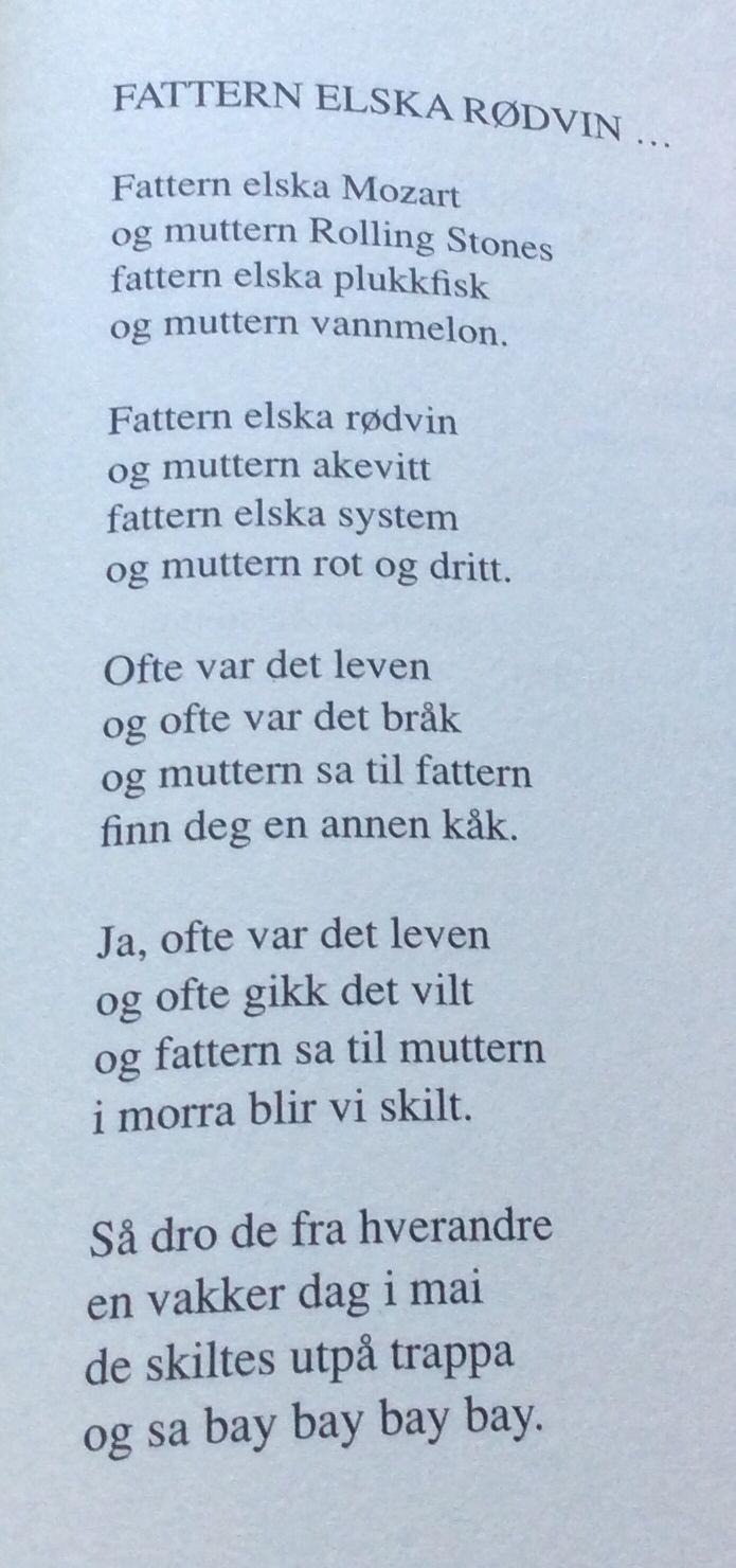 Dikt av Arild Nyquist