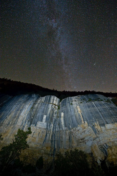 Roark Bluff and the Milky Way at Steele Creek, Buffalo National River. How cool is this?!?!?!?!