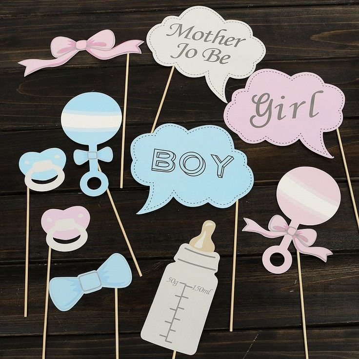 Hot 10Pcs Party Gifts Photo Booth Props DIY Bottle Baby Shower Boy Girl Birthday Enclosed Stick Frame Wedding Decoration