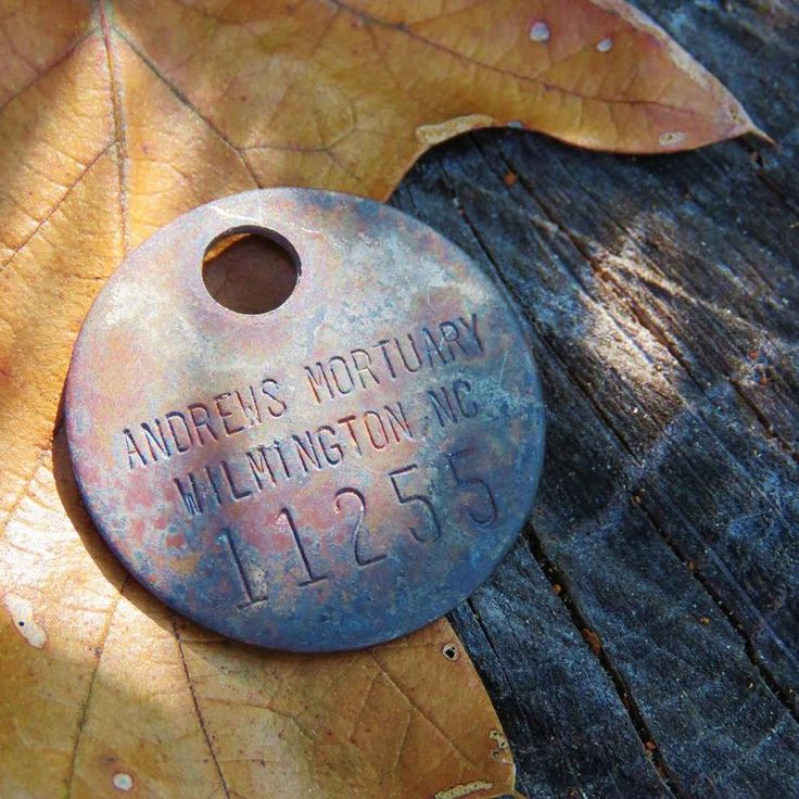 Vintage Crematorium Identification Tag Andrews Mortuary