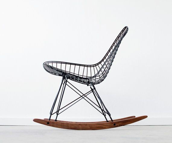 EAMES RKR - Flat Black -  Vintage Restored Herman Miller Chair Design ... Would really love in a [future] nursery.
