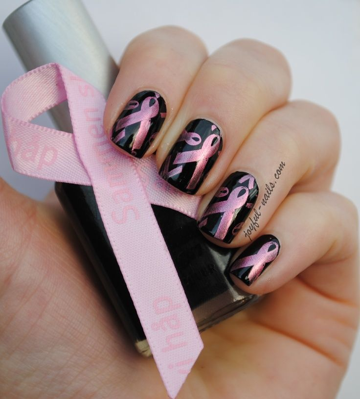 116 best Breast Cancer Awareness Nail Design images on Pinterest ...