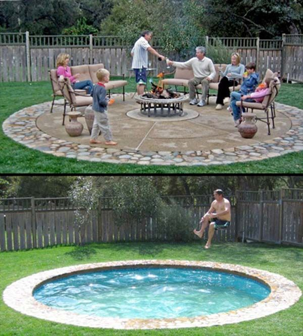 Diy Pool Ideas diy inground pool design ideas 28 Fabulous Small Backyard Designs With Swimming Pool