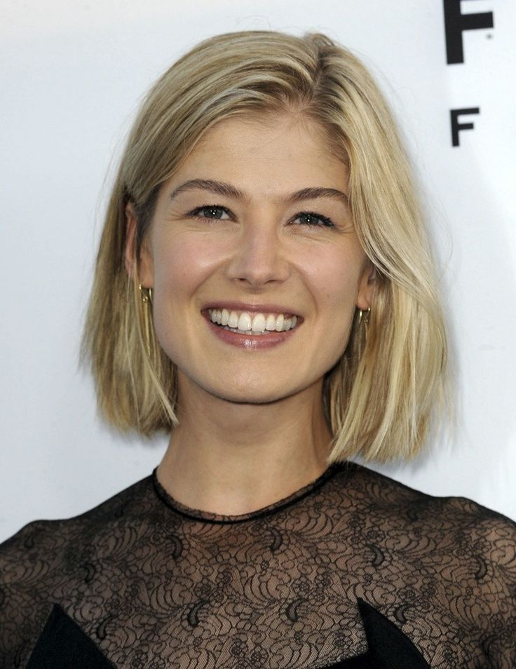 Rosamund Pike- when I cut my hair.  love this length