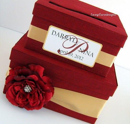 Wedding Card Box Wedding Money Holder Wedding Money Box You customize – Red Wedding Card Box