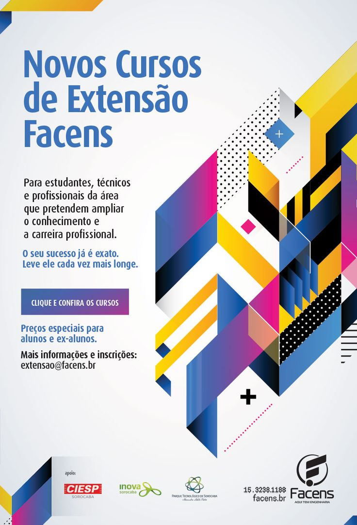 E-mail marketing Cursos de Extsão Facens.   Desenvolvido pela Atua Agência para a Faculdade de Engenharia de Sorocaba Facens.