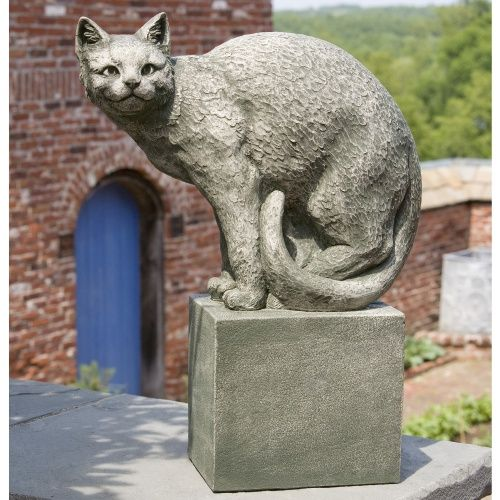 Good Campania International Shadow The Cat Perched Cast Stone Garden Statue   Garden  Statues At Hayneedle