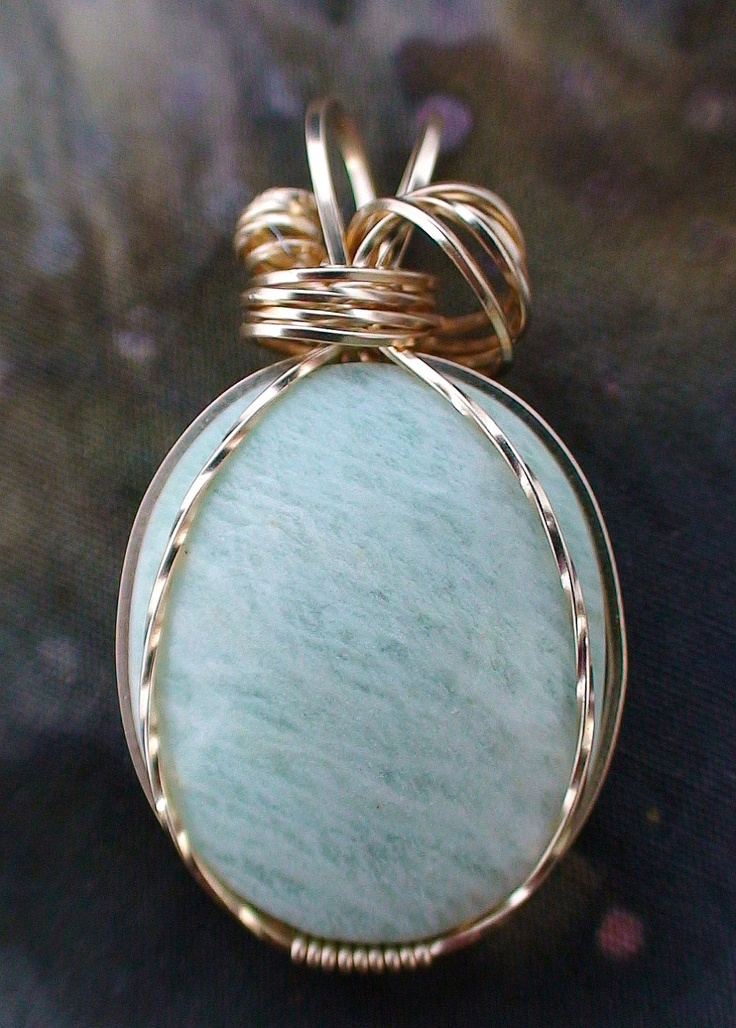 wire wrapping with one bottom wrap