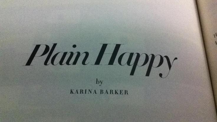 Plain Happy by Karina Barker in Meanjin, Vol.69, No.2, Winter 2010, pp.162-167.