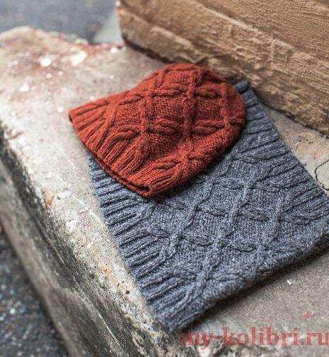 Как связать шапку и снуд спицами: схема и описание