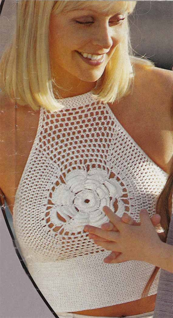 319 mejores imágenes de Blusas en croché en Pinterest | Ganchillo ...