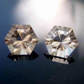 Smokey Quartz, Concave Hexagon, #c32 - Doug Menadue :: Bespoke Gems