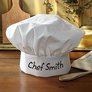 So cool! You can personalize your own Chef hat!: Gift Ideas, Celebrity Chefs, Creative Gift, Personalized Chef, Chef Hats, Christmas Gift, Design, Kid
