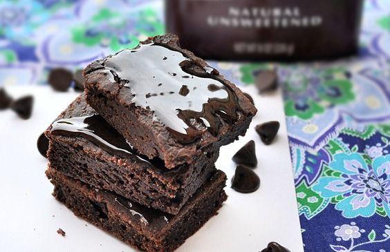 Vegan brownies: Fun Recipe, Fudge Brownies, Cal Brownies, Chocolates Covers, Savory Recipe, Chocolates Fudge, Chocolates Brownies, 100 Calories, Healthy Desserts