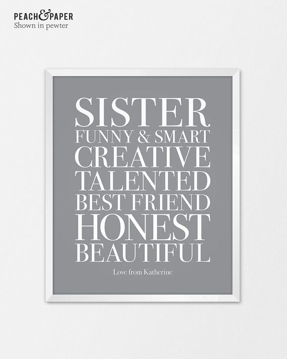 Great Wedding Gift Ideas For Sister : ... Gift for Bridesmaid Gift for Sister Wedding Gift for Sister Birthday