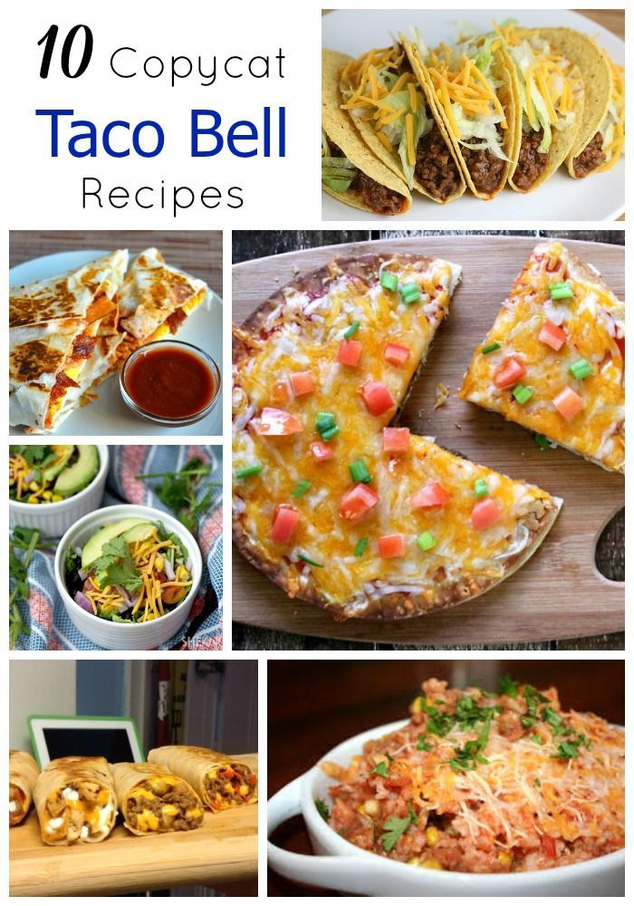10 Copycat Taco Bell Recipes. Now you can fulfill those cravings right from home! #TacoBell (scheduled via http://www.tailwindapp.com?utm_source=pinterest&utm_medium=twpin&utm_content=post277315&utm_campaign=scheduler_attribution)