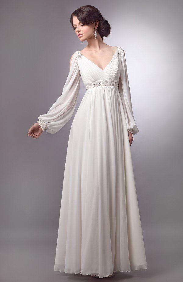 Свадебные платья с рукавами (19 фото)