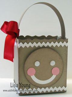 Gingerbread favour box by Lisa Young