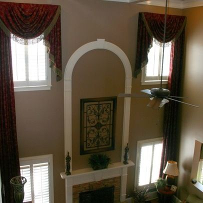 81 best images about 2 story great room ideas on pinterest high ceilings fireplaces and for 2 story family room window treatments