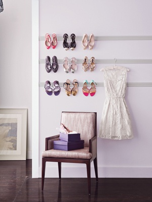 Pint Photo Ledges: for framed pictures, hang and add your killer heels