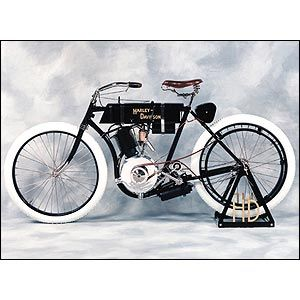 The first Harley Davidson 1903.